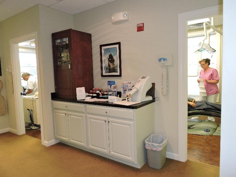 Looking into 2 of our treatment rooms