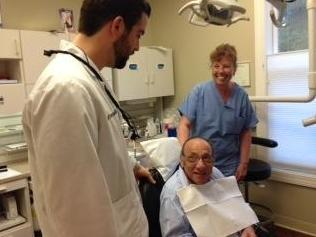 Dr. Scardella and Stevie with our patient
