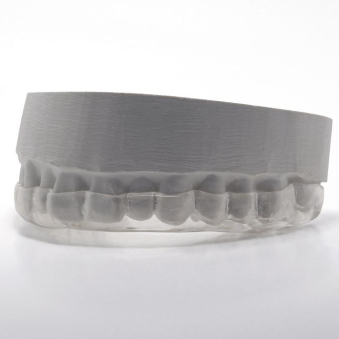 an image of a clear retainer on a cast mold | retainers duxbury ma