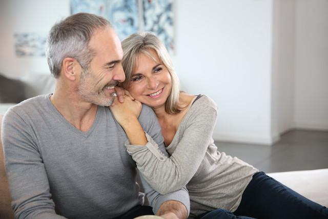 Older Couple Hugging | Dentist Duxbury MA